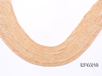 Wholesale 2.5x3mm  Rice-shaped Freshwater Pearl String EPW015 Image 1