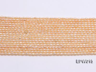 Wholesale 2.5x3mm  Rice-shaped Freshwater Pearl String EPW015 Image 2