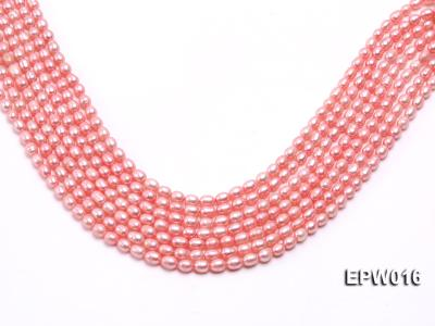 Wholesale 5.5X7mm Pink Rice-shaped Freshwater Pearl String EPW016 Image 1