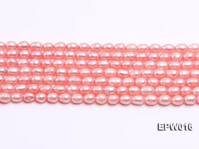 Wholesale 5.5X7mm Pink Rice-shaped Freshwater Pearl String EPW016 Image 2