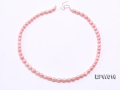 Wholesale 5.5X7mm Pink Rice-shaped Freshwater Pearl String EPW016 Image 3