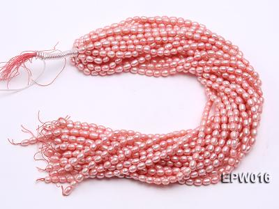 Wholesale 5.5X7mm Pink Rice-shaped Freshwater Pearl String EPW016 Image 4