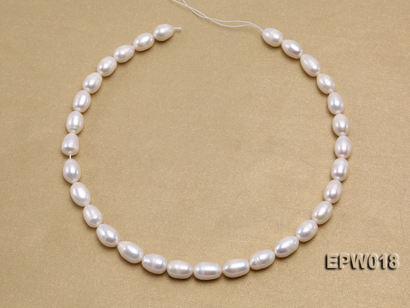 Wholesale 8.5X13mm Classic White Rice-shaped Freshwater Pearl String big Image 3
