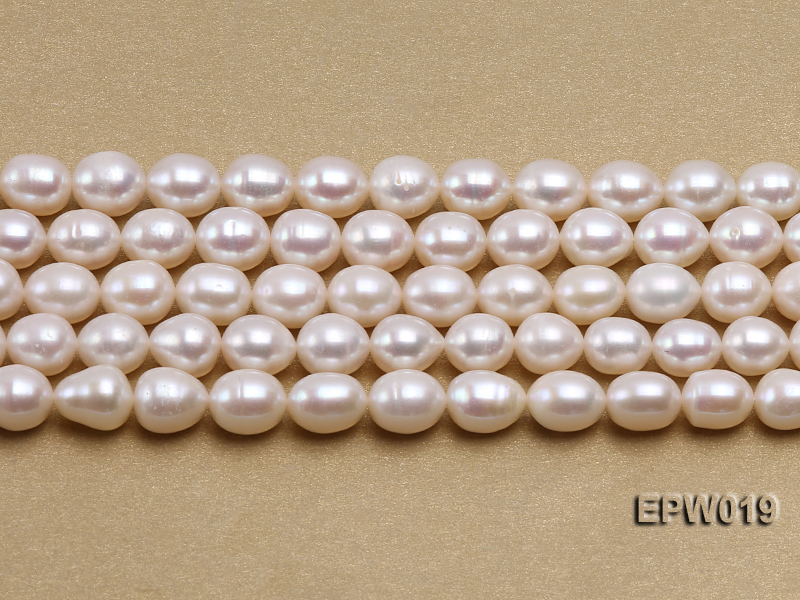 Wholesale 8.5x9mm Classic White Rice-shaped Freshwater Pearl String big Image 2