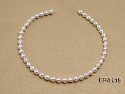 Wholesale 8.5x9mm Classic White Rice-shaped Freshwater Pearl String EPW019 Image 3