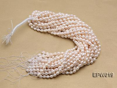 Wholesale 8.5x9mm Classic White Rice-shaped Freshwater Pearl String EPW019 Image 4