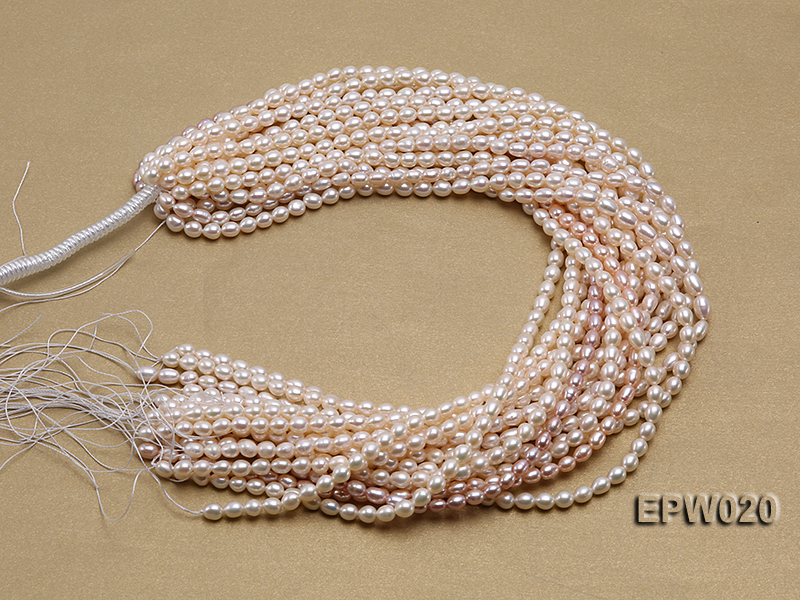 Wholesale 5.5x7mm Classic White Rice-shaped Freshwater Pearl String big Image 4