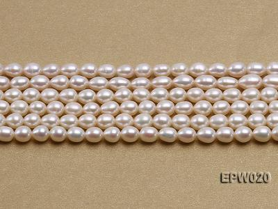 Wholesale 5.5x7mm Classic White Rice-shaped Freshwater Pearl String EPW020 Image 2