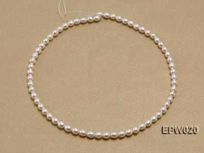 Wholesale 5.5x7mm Classic White Rice-shaped Freshwater Pearl String EPW020 Image 3