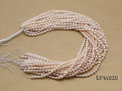Wholesale 5.5x7mm Classic White Rice-shaped Freshwater Pearl String EPW020 Image 4