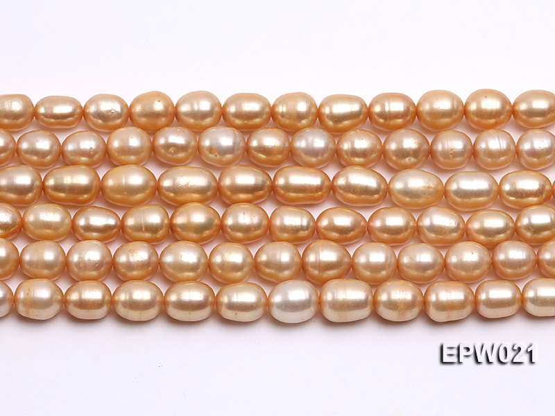 Wholesale 7X8.5mm  Rice-shaped Freshwater Pearl String big Image 1