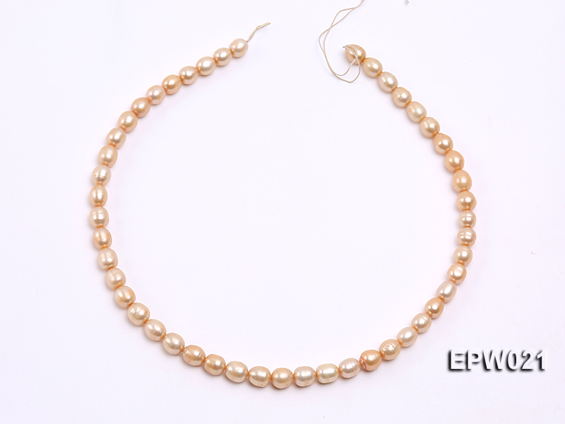 Wholesale 7X8.5mm  Rice-shaped Freshwater Pearl String big Image 3