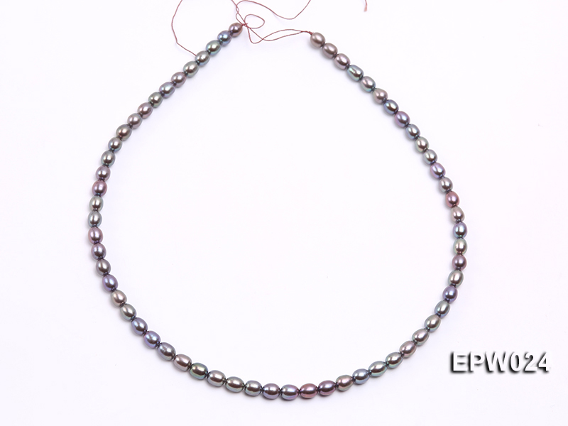 Wholesale 5X6.5mm  Rice-shaped Freshwater Pearl String big Image 3