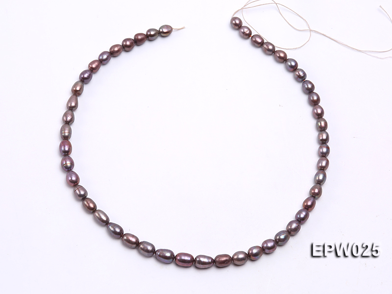 Wholesale 6x7mm Wind Red Rice-shaped Freshwater Pearl String big Image 3