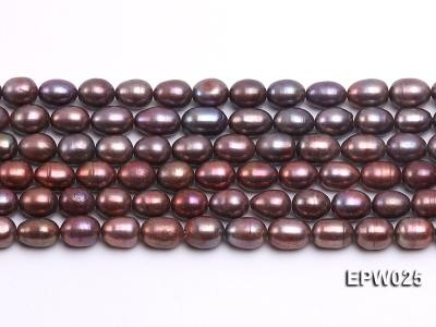 Wholesale 6x7mm Wind Red Rice-shaped Freshwater Pearl String EPW025 Image 2