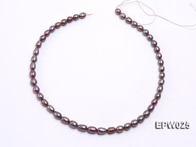 Wholesale 6x7mm Wind Red Rice-shaped Freshwater Pearl String EPW025 Image 3