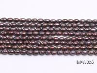 Wholesale 5x6.5mm Black Rice-shaped Freshwater Pearl String EPW026