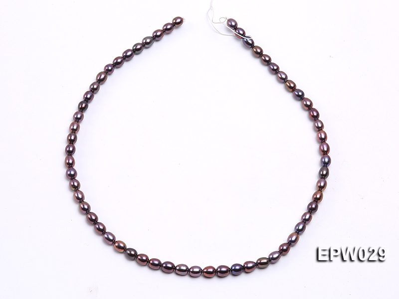 Wholesale 5.5X6.5mm  Rice-shaped Freshwater Pearl String big Image 3