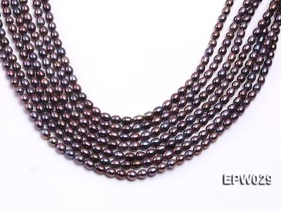 Wholesale 5.5X6.5mm  Rice-shaped Freshwater Pearl String EPW029 Image 2