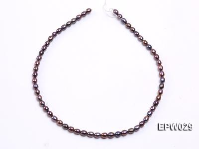 Wholesale 5.5X6.5mm  Rice-shaped Freshwater Pearl String EPW029 Image 3