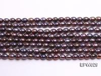 Wholesale 5.5X6.5mm  Rice-shaped Freshwater Pearl String EPW029