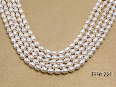 Wholesale 8X9mm Classic White Rice-shaped Freshwater Pearl String EPW031 Image 1