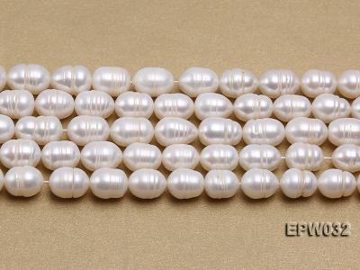 Wholesale 9.5x13mm white Rice-shaped Freshwater Pearl String EPW032 Image 2