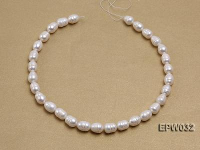 Wholesale 9.5x13mm white Rice-shaped Freshwater Pearl String EPW032 Image 3