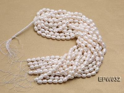 Wholesale 9.5x13mm white Rice-shaped Freshwater Pearl String EPW032 Image 4