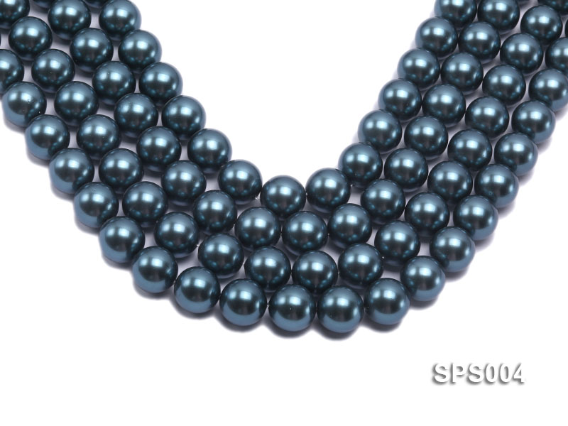 Wholesale 16mm Round Black Seashell Pearl String big Image 1