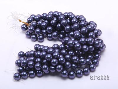 Wholesale 16mm Black Round Seashell Pearl String SPS005 Image 3