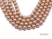 Wholesale 16mm Golden Round Seashell Pearl String SPS006
