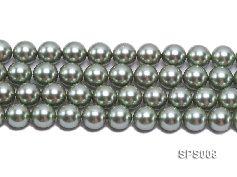 Wholesale 16mm Green Round Seashell Pearl String big Image 2