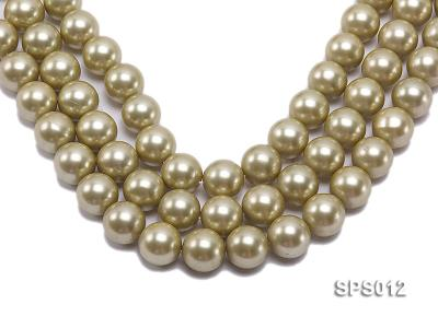 Wholesale 16mm Olive Round Seashell Pearl String SPS012 Image 1
