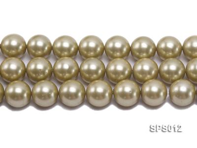 Wholesale 16mm Olive Round Seashell Pearl String SPS012 Image 2