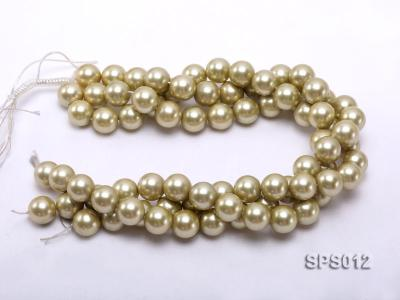 Wholesale 16mm Olive Round Seashell Pearl String SPS012 Image 3