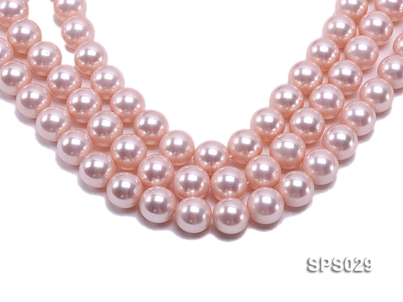 Wholesale 16mm Pink Round Seashell Pearl String big Image 1