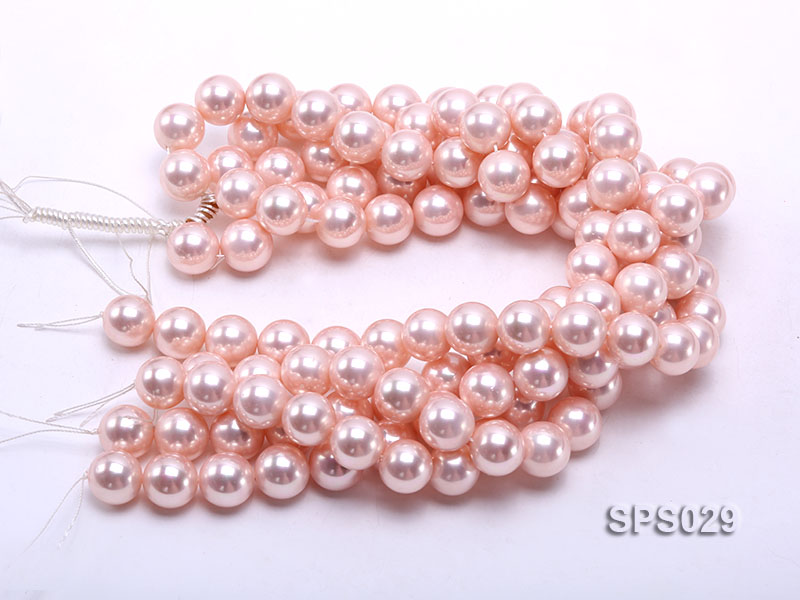Wholesale 16mm Pink Round Seashell Pearl String big Image 3