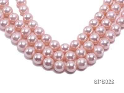 Wholesale 16mm Pink Round Seashell Pearl String SPS029 Image 1