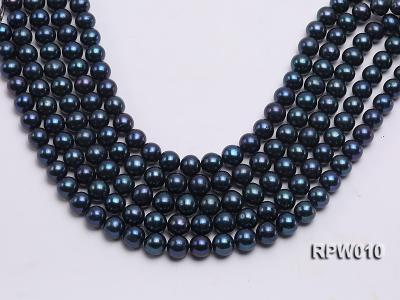 Wholesale AA 12-13mm Black Round Freshwater Pearl String   RPW010 Image 2
