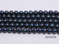 Wholesale AA 12-13mm Black Round Freshwater Pearl String   RPW010