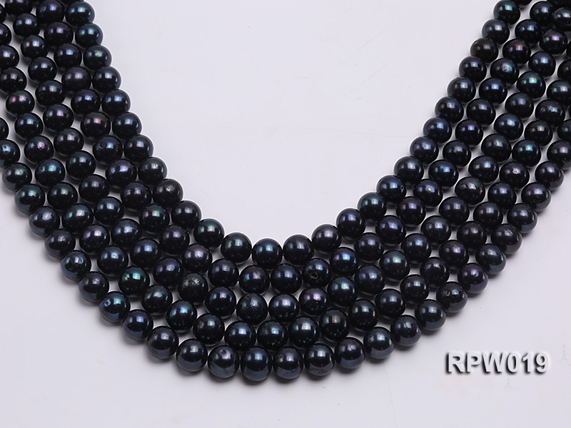 Wholesale 11mm Peacock Round Freshwater Pearl String big Image 1