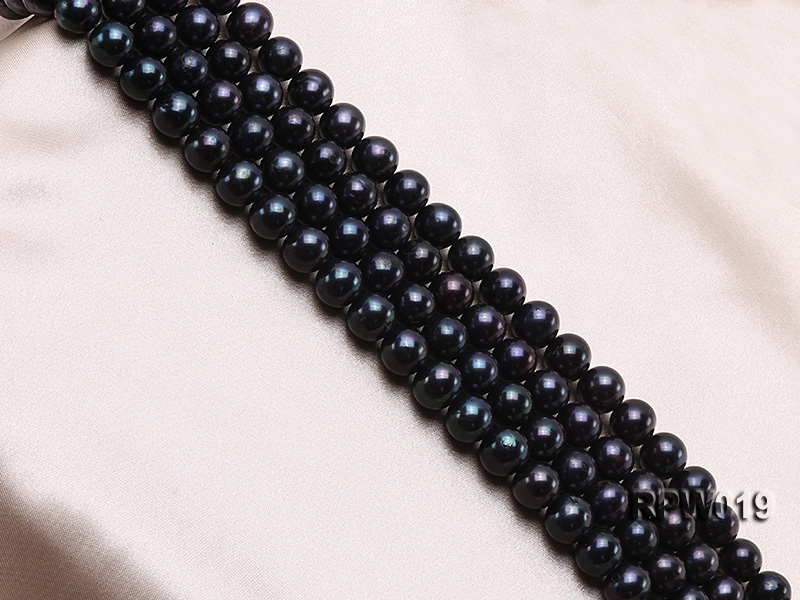 Wholesale 11mm Peacock Round Freshwater Pearl String big Image 3