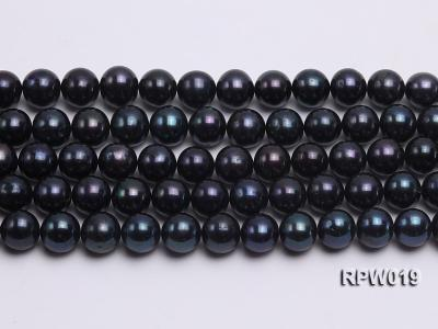 Wholesale 11mm Peacock Round Freshwater Pearl String RPW019 Image 2