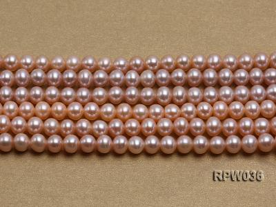Wholesale & Retail 6-7mm Pink Round Freshwater Pearl String RPW036 Image 2