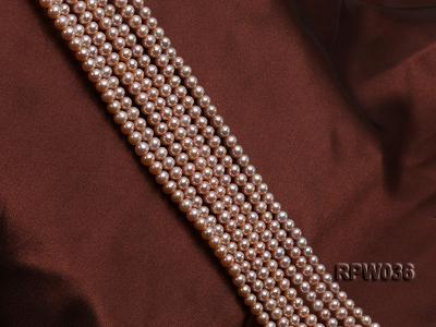 Wholesale & Retail 6-7mm Pink Round Freshwater Pearl String RPW036 Image 3