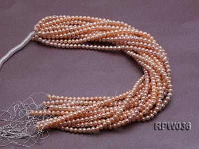 Wholesale & Retail 6-7mm Pink Round Freshwater Pearl String RPW036 Image 4