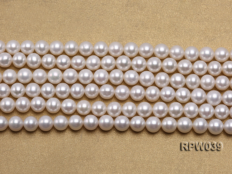 Wholesale High-quality 7-8mm Classic White Round Freshwater Pearl String big Image 2