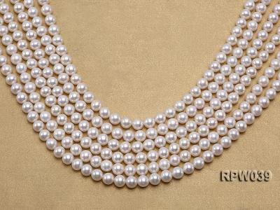 Wholesale High-quality 7-8mm Classic White Round Freshwater Pearl String RPW039 Image 1