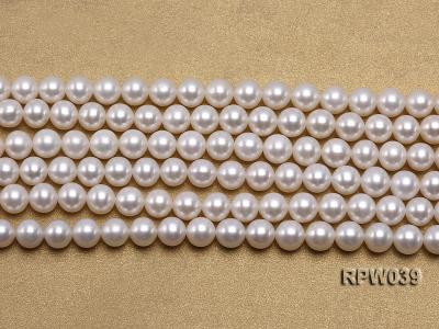 Wholesale High-quality 7-8mm Classic White Round Freshwater Pearl String RPW039 Image 2